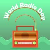 Bannière de Web au jour par radio du monde illustration libre de droits