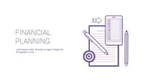 Bannière de Web de calibre de concept d'affaires de planification financière avec l'espace de copie illustration stock