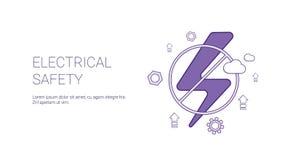 Bannière de Web de calibre de concept de sécurité d'Electricial avec l'espace de copie Image stock