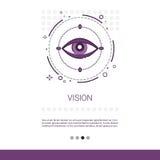 Bannière de Web d'économie d'affaires de vision de vente avec l'espace de copie Photographie stock
