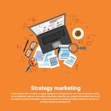 Bannière de Web d'affaires de plan de stratégie marketing de Digital Photo stock