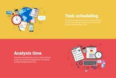Bannière de Web d'affaires de Scheduling de gestion de durée de l'analyse financière illustration libre de droits