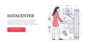 Bannière de Web de Datacenter illustration libre de droits