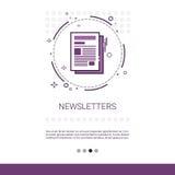 Bannière de Web de journal d'application de bulletin d'information avec l'espace de copie Images stock