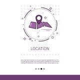 Bannière de Web de position d'emplacement de navigation de carte avec l'espace de copie illustration de vecteur