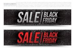 Bannière de Web de vecteur de vente de Black Friday Image libre de droits