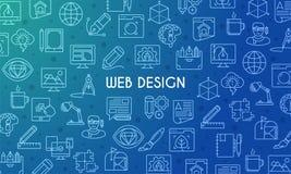 Bannière de web design illustration stock