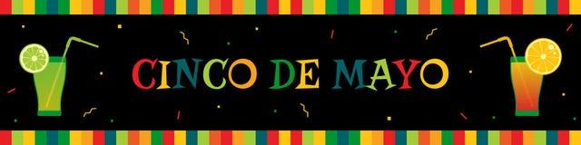 Bannière de Web de fiesta du cinco De Mayo de cocktail de tequila illustration stock
