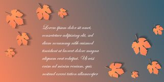 Bannière de Web de taille standard avec Autumn Leaves illustration libre de droits