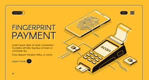 Bannière de Web de vecteur de société de technologies de biométrie illustration libre de droits