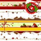 Bannière des bonbons et du chocolat Images stock