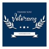 Bannière des Etats-Unis de vétéran de jour, illustration de vecteur plate, texte Photo stock