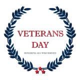 Bannière des Etats-Unis de vétéran de jour, illustration de vecteur plate, texte Photo libre de droits