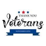 Bannière des Etats-Unis de vétéran de jour, illustration de vecteur, texte Photos libres de droits