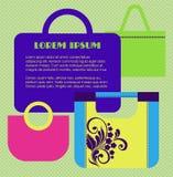 Bannière des sacs des femmes illustration stock