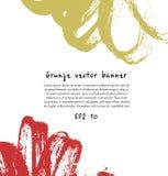 Bannière dessinée par encre abstraite Composition décorative pour des affiches, cartes, présentation Photo libre de droits
