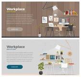 Bannière deux pour le web design Image libre de droits