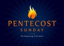 Bannière du feu de dimanche de Pentecôte illustration de vecteur