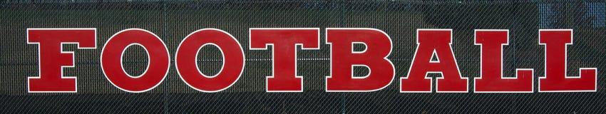 Bannière du football Image libre de droits