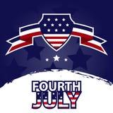 Bannière du quatrième juillet photo stock