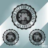 Bannière efficace de ventes au rabais Ruban bon marché minimal d'isolement de vecteur Conception de l'illustration EPS10 Image libre de droits