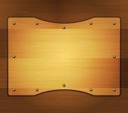 Bannière en bois Images libres de droits