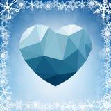 Bannière en forme de coeur géométrique abstraite vue Photo stock