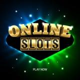 Bannière en ligne de casino de fentes Illustration Libre de Droits