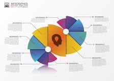 Bannière en spirale moderne abstraite d'options d'infographics Vecteur illustration stock