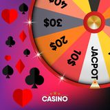 Bannière et fond de jeu de casino , vecteur Photo stock