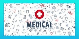 Bannière et fond médicaux Soins de santé Illustration de médecine de vecteur illustration de vecteur
