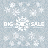 Bannière et neige de fond de vente d'hiver Noël An neuf Vecteur Photos libres de droits