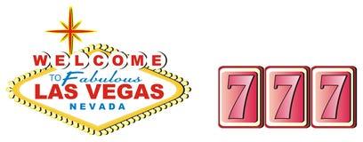Bannière et signes 777 Illustration Libre de Droits
