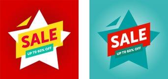 Bannière finale de vente d'offre spéciale, jusqu'à 60%  Illustration de vecteur illustration libre de droits