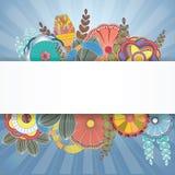 Bannière florale avec des feuilles pour la conception, illustration de vecteur Images stock