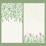 Bannière florale d'aquarelle de vecteur Frontière de fines herbes d'aspiration de main Photos libres de droits