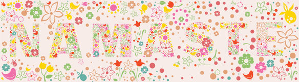 Bannière florale ornementale de NAMASTE Photographie stock libre de droits