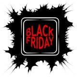 Bannière foncée de Web en vente noire de vendredi les fissures de forme de cadre de vecteur griffonnent le griffonnage, style d'a Photo stock