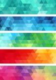 Bannière géométrique abstraite, ensemble de vecteur Photo stock