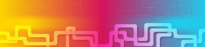 Bannière géométrique d'abrégé sur vibrant gradient Photos stock