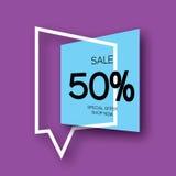 Bannière géométrique de vente coupée par papier moderne Photos stock