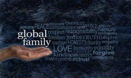 Bannière globale de campagne de nuage de mot de famille photographie stock libre de droits