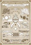 Bannière graphique tirée par la main de page de vintage Image stock
