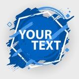 Bannière grunge d'éclaboussure Labels d'éclaboussure de vecteur avec l'espace pour le texte Étiquette grunge Photo stock