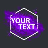 Bannière grunge d'éclaboussure Labels d'éclaboussure de vecteur avec l'espace pour le texte Étiquette grunge Image libre de droits