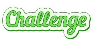 Bannière grunge de défi d'art de bruit de vecteur de vert d'autocollant de défi Image stock