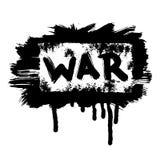 Bannière grunge de guerre de vecteur Photos libres de droits