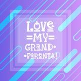Bannière heureuse de carte de voeux de jour de grands-parents illustration de vecteur