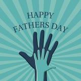 Bannière heureuse de jour de pères illustration stock