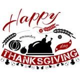 Bannière heureuse de jour de thanksgiving Photos stock